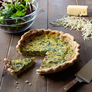 Florentine Quiche is perfect for special breakfast, brunch or light meals and other festive gatherings. It is a tasty combination of spinach and cheese that makes for a beautiful presentation.