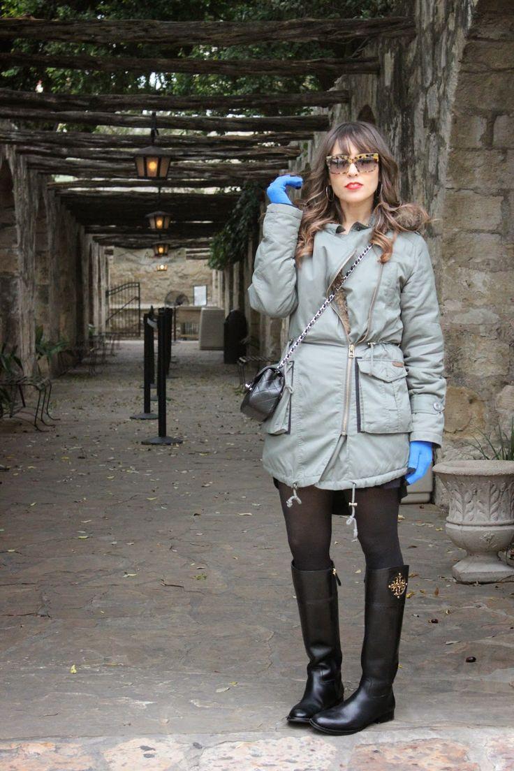 Shop this look on Lookastic:  http://lookastic.com/women/looks/grey-parka-light-blue-gloves-black-crossbody-bag-black-knee-high-boots/6779  — Grey Parka  — Light Blue Wool Gloves  — Black Quilted Leather Crossbody Bag  — Black Leather Knee High Boots