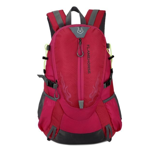Flame Horse Outdoor Hiking Backpack Waterproof Nylon Men Women Bag Unisex Travel Bag Mountain Camping Climbing Mochilas Rucksack