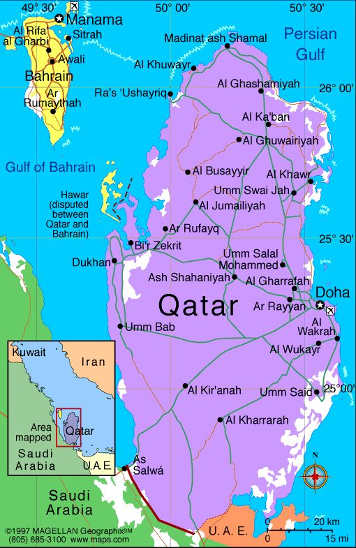 Qatar Atlas: Maps and Online Resources | Infoplease.com