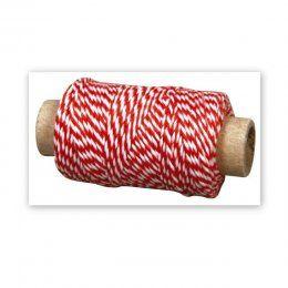 Dekorační šňůrka / Červeno-bílá | Dekorační šňůrky | Dekorace | SCRAPBOOK | eShop | Polymerová hmota, kurzy fimo, eshop – Nemravka