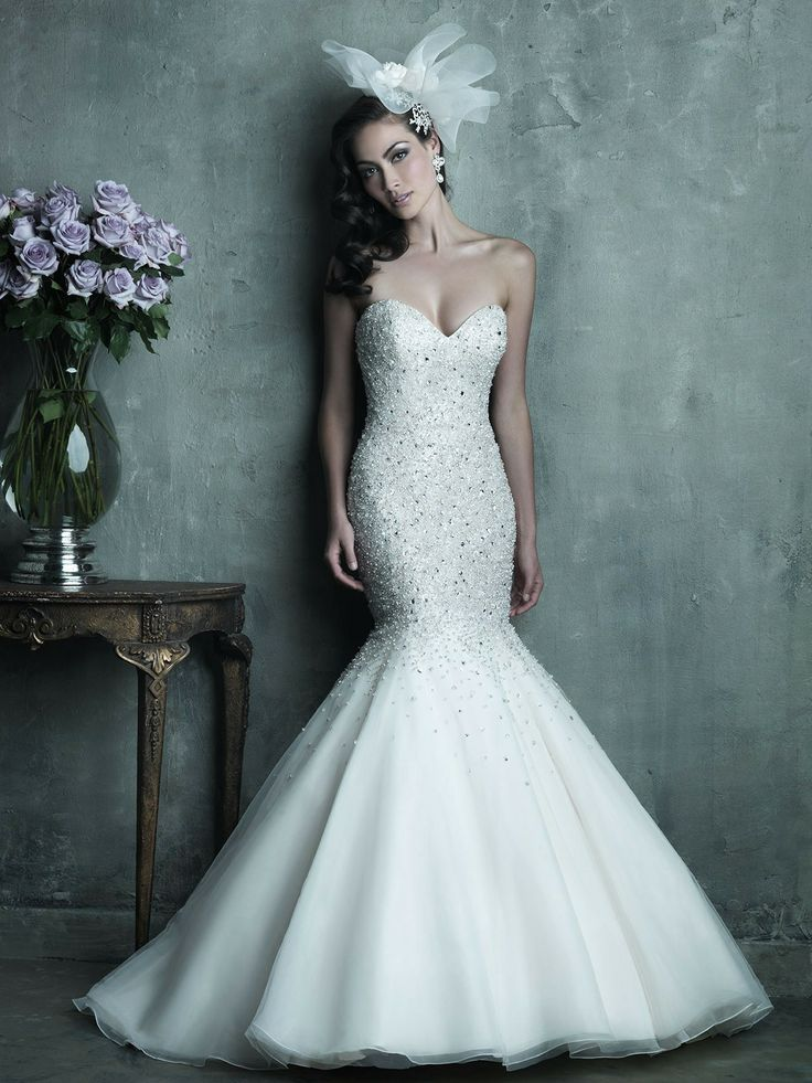 Fabulous sparkly mermaid gown! Allure Couture Wedding Dresses - Style C286 #wedding #dresses