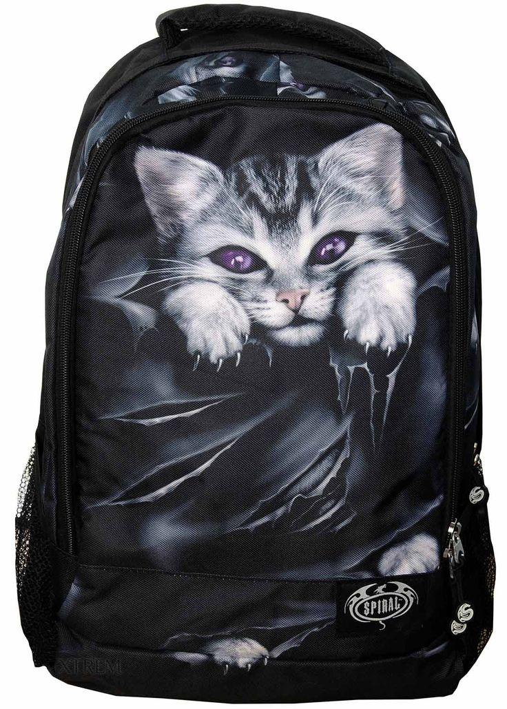 Mochila gótica con un gato de Spiral Direct  #mochila #gato #cat #gothic #backpack #gotico #gatos #xtremonline