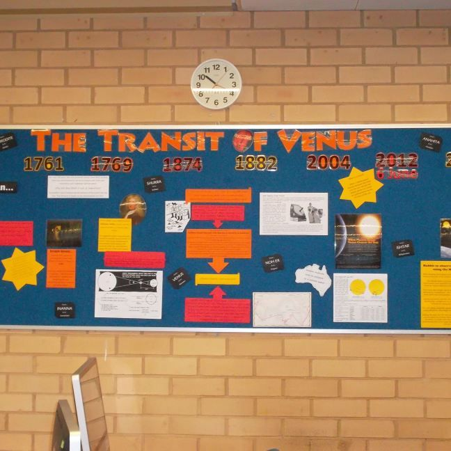 The Transit of Venus (library display) | Capturing the fun in my library