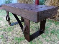 Scrap Metal Art Bench