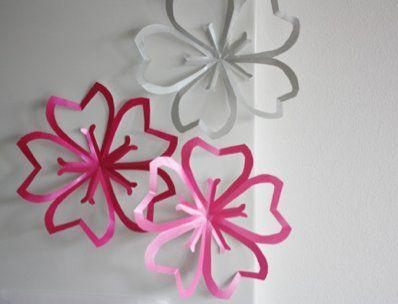 手作り桜デコレーション