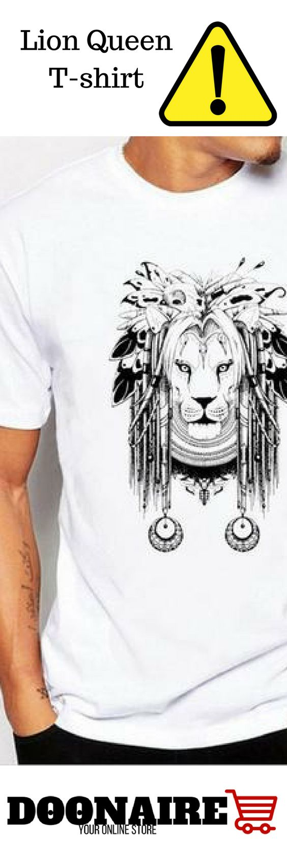 Lion Queen Men's T-shirts  A really high-quality Lion T-shirt made of cotton.   Make sure that you choose the right size before ordering. Please check the size chart before ordering.