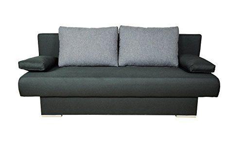 AVANTI TRENDSTORE - Divano letto - colore nero - funzione letto - ca. 193x78x86 cm