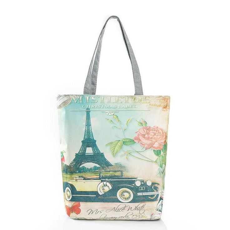 Arrival Female Canvas Shopping Bag European Style Fashion Printing Women Handbags Canvas Beach Bags For Girls H46