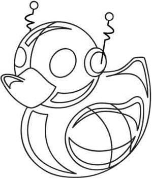 Robot Duckie_image | Quilting templates, Unicorn drawing ...