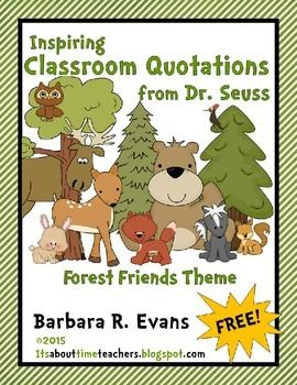 Use these 30 Inspiring Classroom Quotations from Dr. Seuss to promote meta-cognition and decorate your classroom.  Thinking about thinking (meta-cognition) through quotations exercises critical thinking skills.  Gifted learners, in particular, find these quotes fascinating.