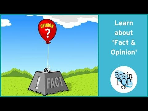BrainPOP UK - Fact and Opinion - YouTube