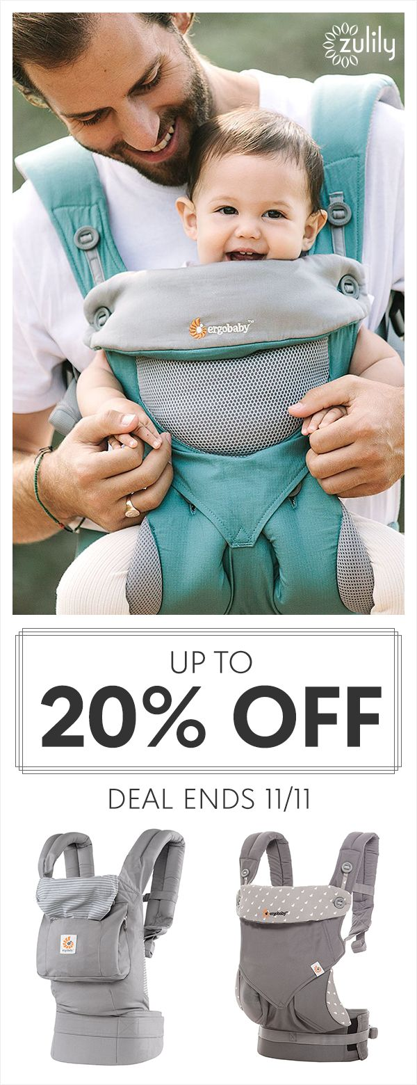 Sign up to shop Ergobaby carriers, nursing pillows, and swaddlers, up to 20% off. Focus on what matters most with help from Ergobaby. Their convenient carriers support your active lifestyle while keeping little ones close for natural bonding. Deal ends 11/11.