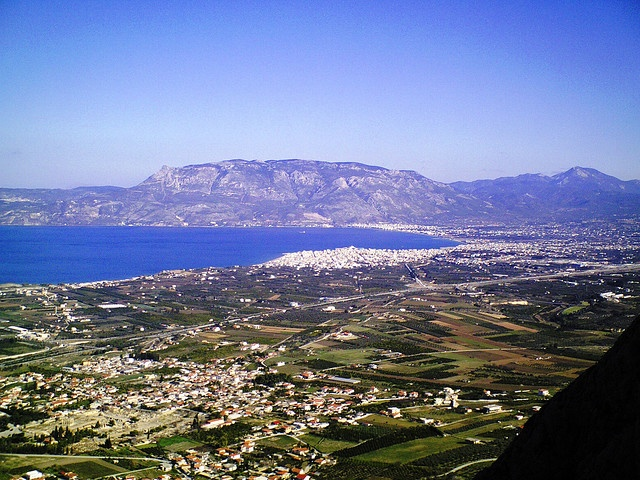 View from the AcroCorinth - Ancient Corinth Greece