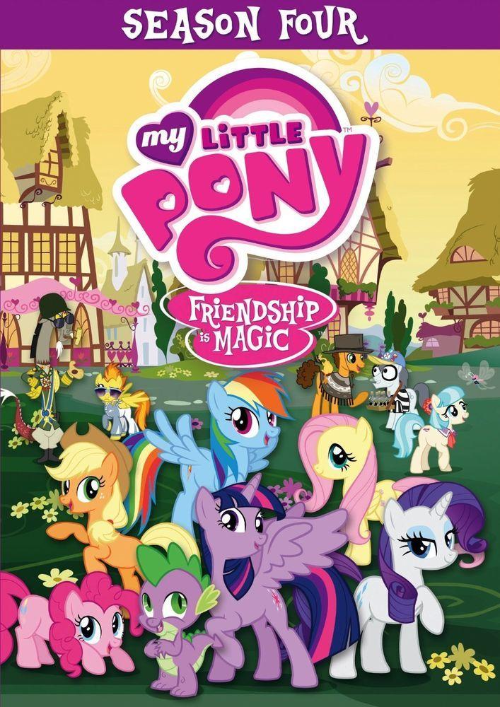 MY LITTLE PONY DVD - FRIENDSHIP IS MAGIC: SEASON 4 [4 DISCS] - NEW UNOPENED