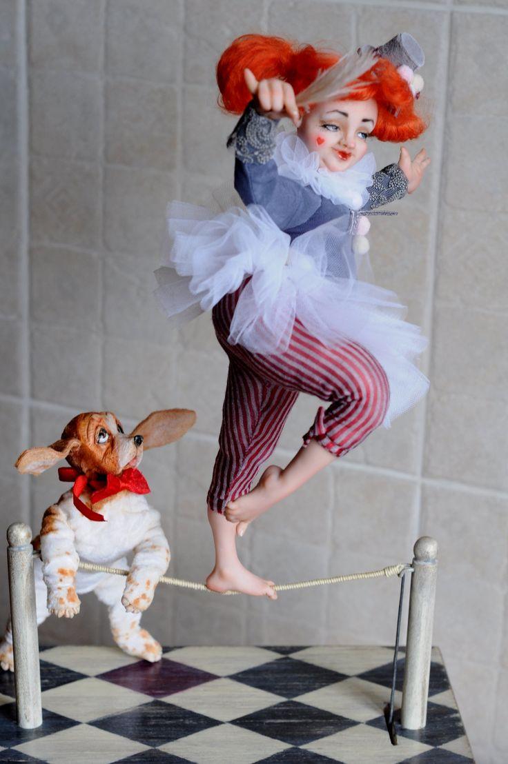 Circus artist Irina Shubina and Yuri Sharov