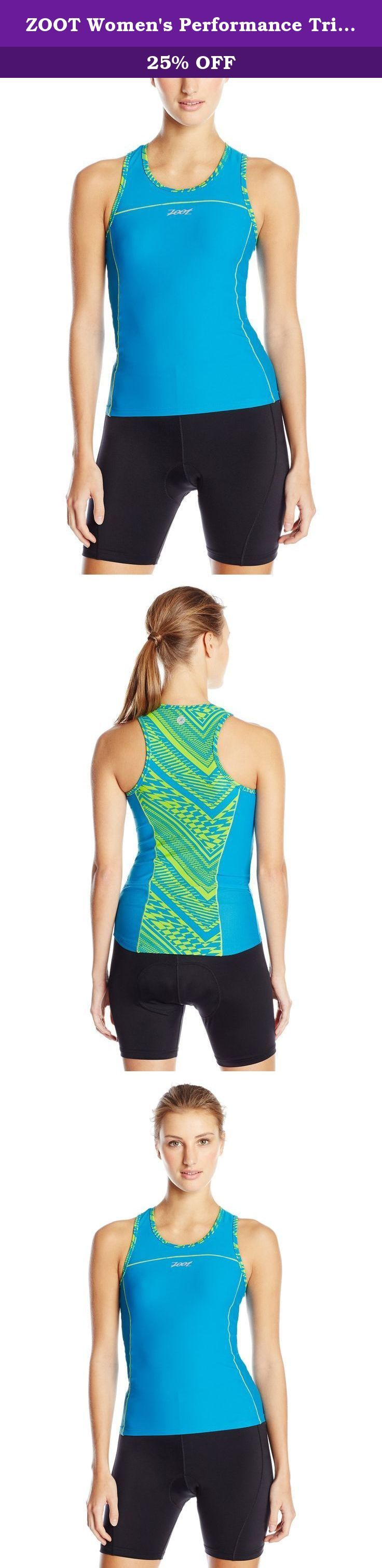 ZOOT Women's Performance Tri BYOB Tank Top, Tribal, X-Small. Your bra choice is yours with the Women's performance Tri byob tank. Take advantage of additional sun coverage with full front and back coverage. Premium performance Endura fabric will keep you dry, comfortable and well supported. Great for racing and training, the byob tank is great top for those who are looking for additional coverage.