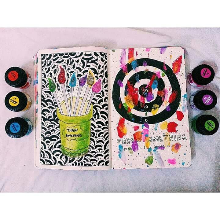 Wreck this journal page, throw something at this page..♡