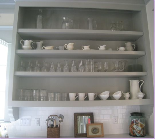 Love the simplicity of the open shelves - the downside is that they need to be immaculate at all times! Sally Wheat's Kitchen