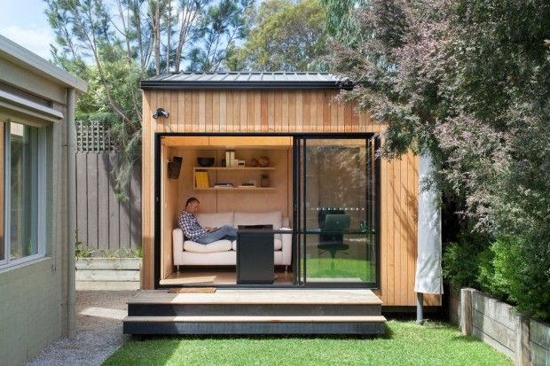 contemporary-garage-and-shed backyard office