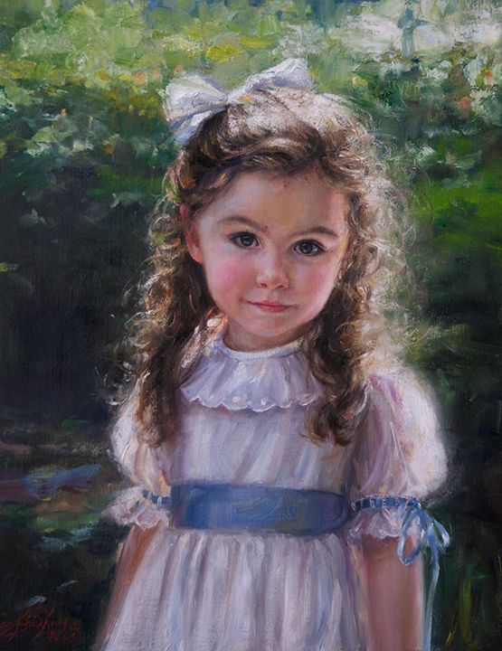 So beautiful portraits inc for Paintings of toddlers