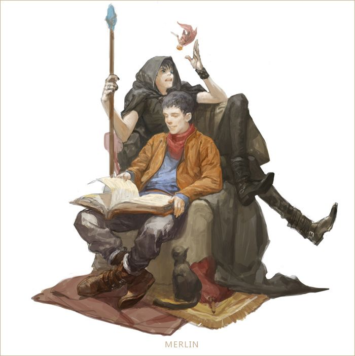 MERLIN by elna70 on DeviantArt ・I've been searching for a Merlin-Jethro (from Doctor Who) crossover FOR FOREVER. This is awesome!