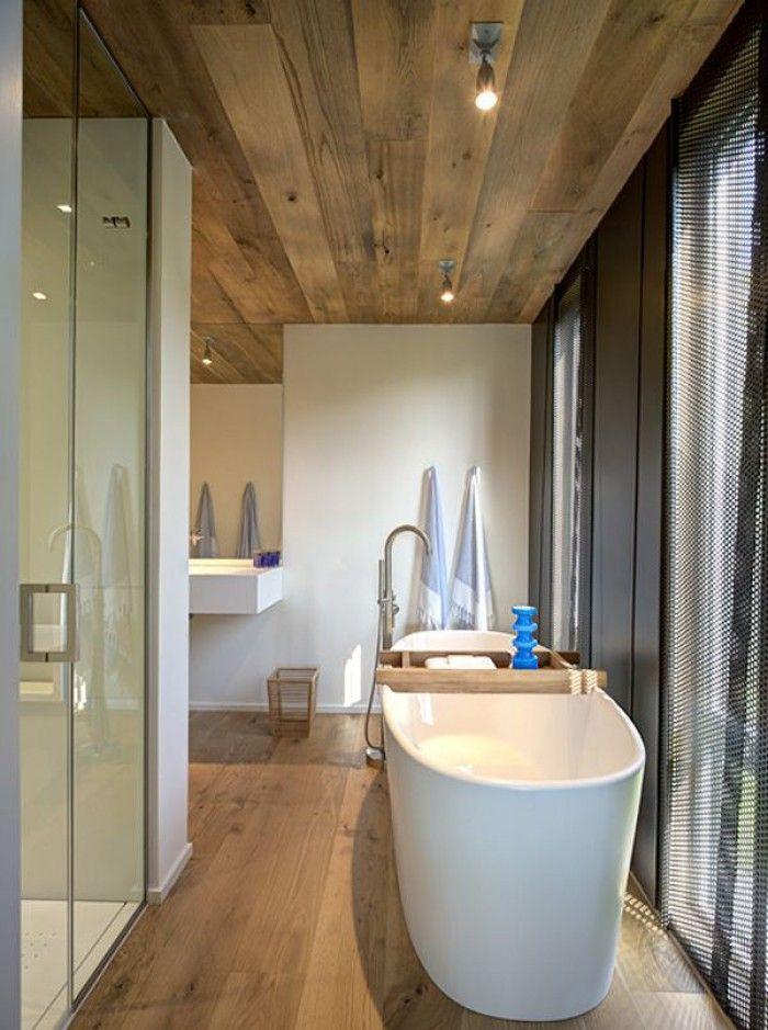Rustiek houten plafond