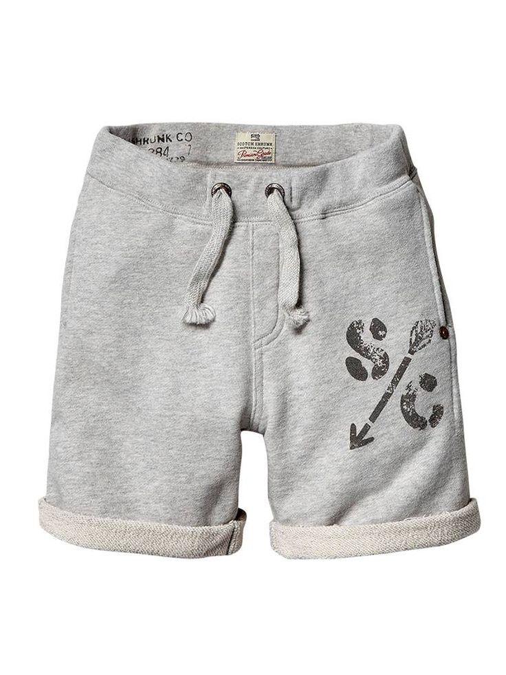 Basic sweat shorts - grey melange - 6