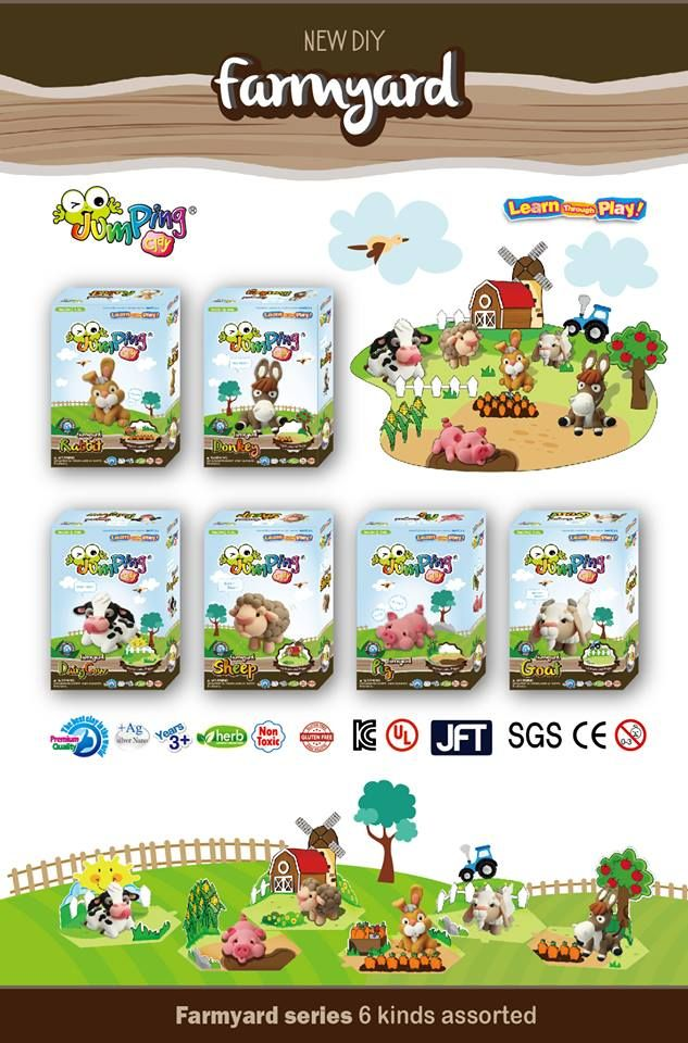 Collect all 6 of the brand NEW Farmyard Series and create your own toys with our simple to follow step-by-step series sets. Happy Modelling