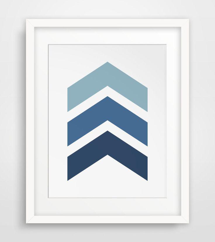 Navy Chevrons, Blue Chevrons, Navy Chevron Wall Print, Blue Chevron Wall Print, Chevron Wall Art, Navy Blue Art, Navy Wall Print, Printable by MelindaWoodDesigns on Etsy https://www.etsy.com/listing/191555794/navy-chevrons-blue-chevrons-navy-chevron
