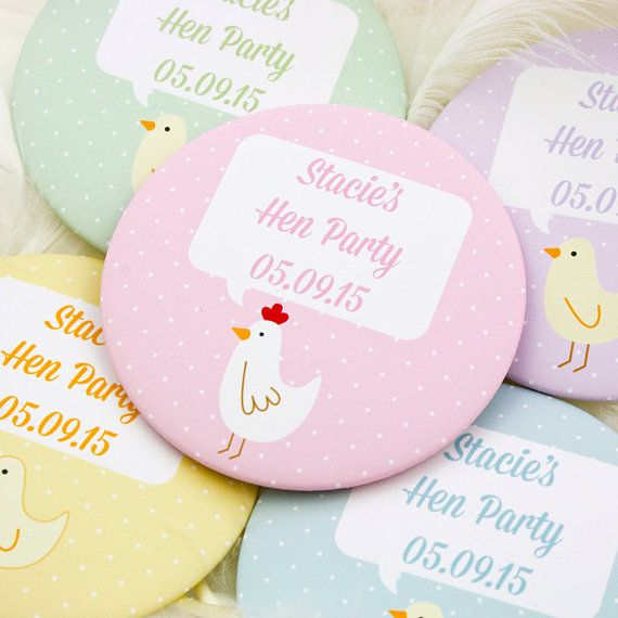 A single or set of personalised hens and chicks party name badges for that special evening with your favourite ladies before your big day! #HenDo #HenParty #HenBadges #HenPartyBadges #BridalParty #HenAccessories #HensAndChicks