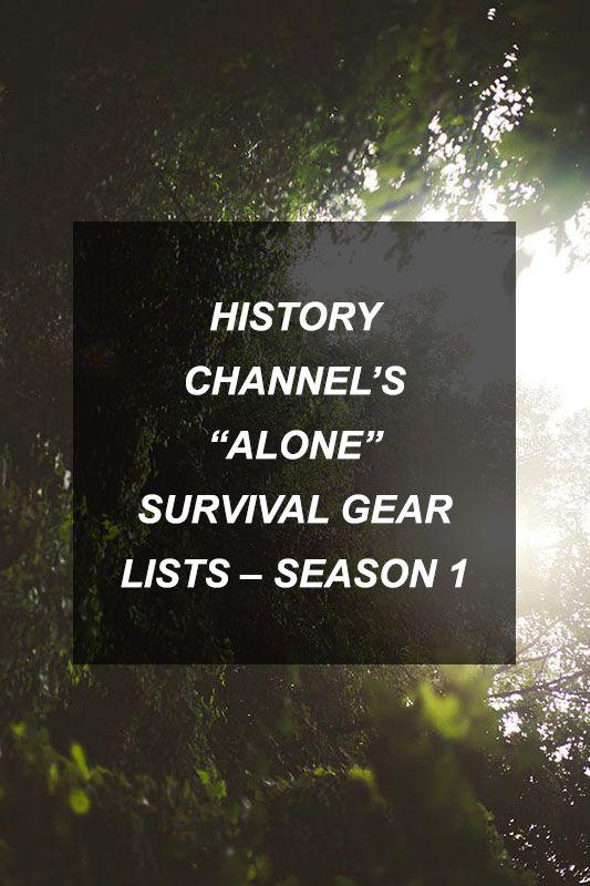 """History Channel's """"Alone"""" Survival Gear Lists - Season 1"""