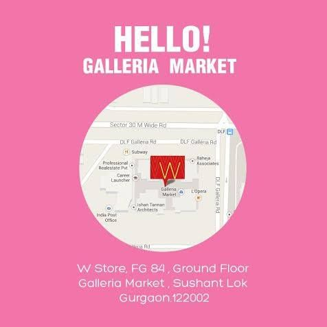 #Gurgaon, say hello to our latest store! We are now in Galleria Market to spread glamour & #fashion. #WStore
