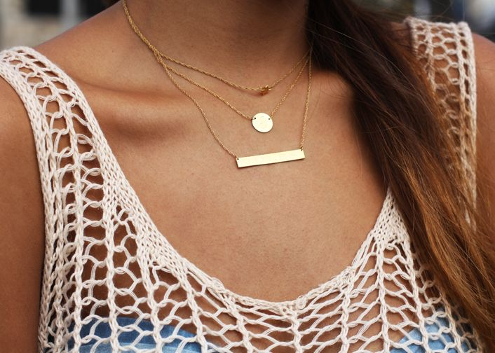 layered necklaces via Sincerely Jules