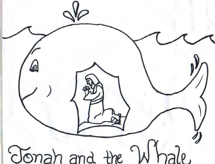 Jonah and the Whale Clip Art Free | Jonah Coloring Pages ...