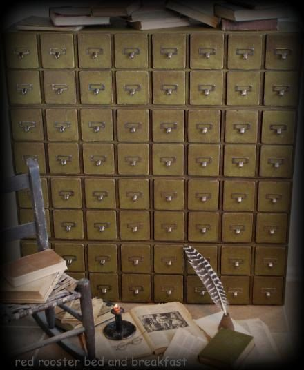 Primitive 64 Chest of Drawers Apothecary Cupboard by redroosterbab, $1300.00