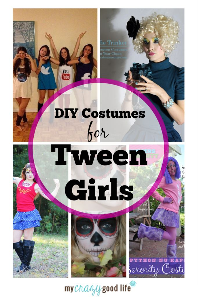 These DIY tween girl costumes are not too revealing, but still cool!
