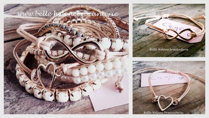 Waxkoord armband met hart of peace teken!  nu te bestellen via facebook.