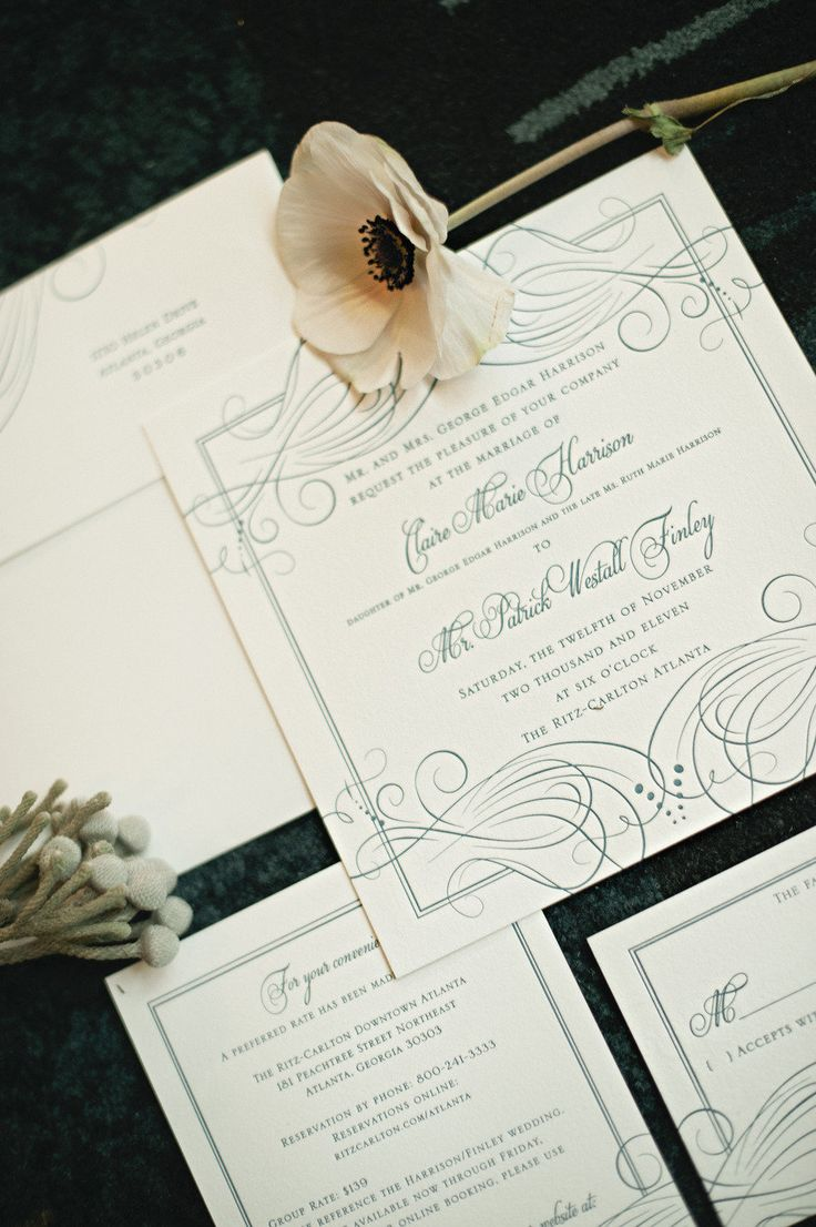 top wedding invitations016%0A The RitzCarlton Atlanta Wedding by Harwell Photography