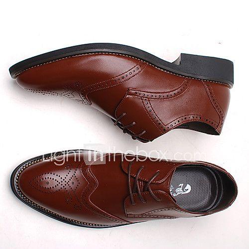 Hombre-Tacón Robusto Talón de bloque-Confort zapatos Bullock Zapatos formales-Oxfords-Boda Oficina y Trabajo Informal Fiesta y Noche-Cuero 2017 - $22981