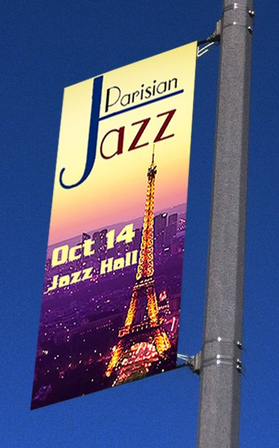"""Fantastic Displays - 18"""" Street Light Pole Banner, $24.99 (http://www.fantasticdisplays.com/street-pole-banners/18-street-light-pole-banner-brackets/)"""
