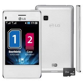 Celular Desbloqueado LG T375 Branco com Dual Ch...