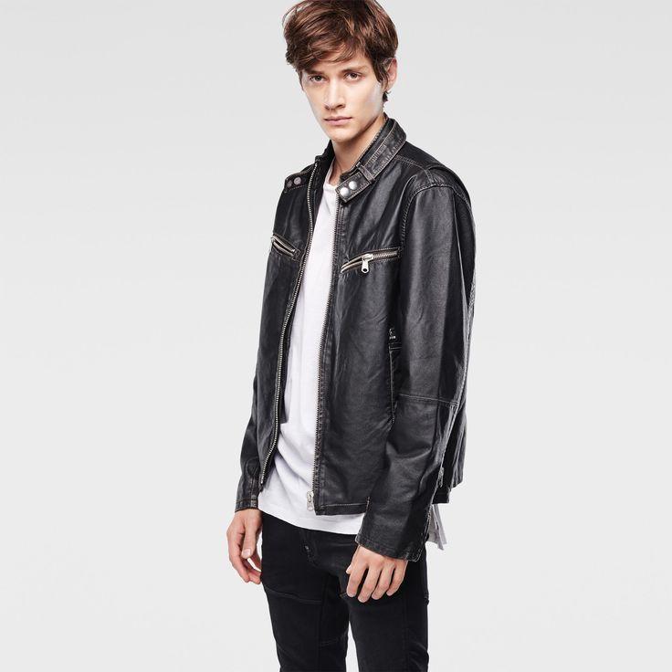 G-Star RAW | Men | ジャケット | Engine Leather Jacket , Black