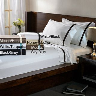Hotel Collection Cotton Sateen 300 Thread Count Sheet Set   Overstock.com Shopping - Great Deals on Sheets