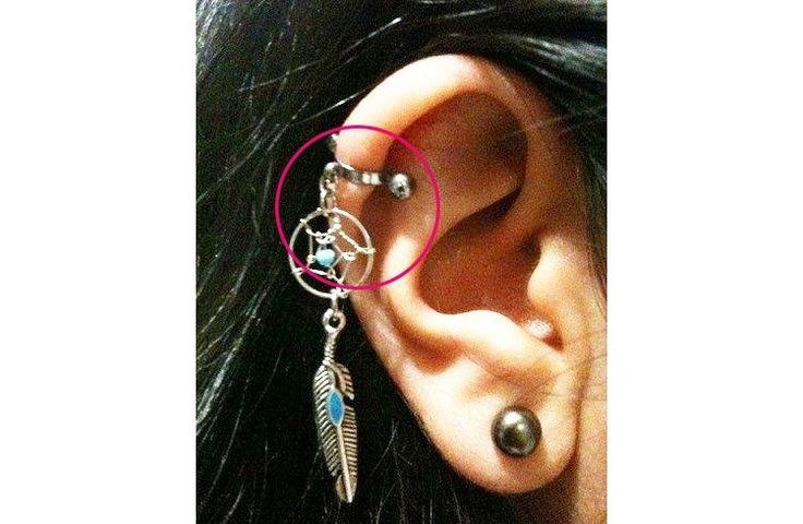 Industrial Helix Ear Piercing