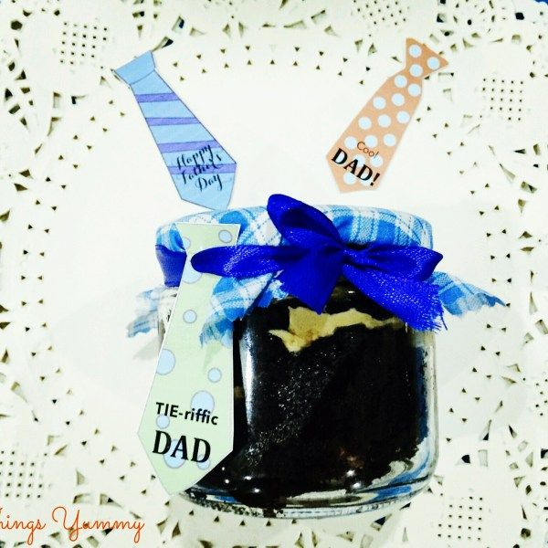 Customised Fathers Day Cake in a Jar