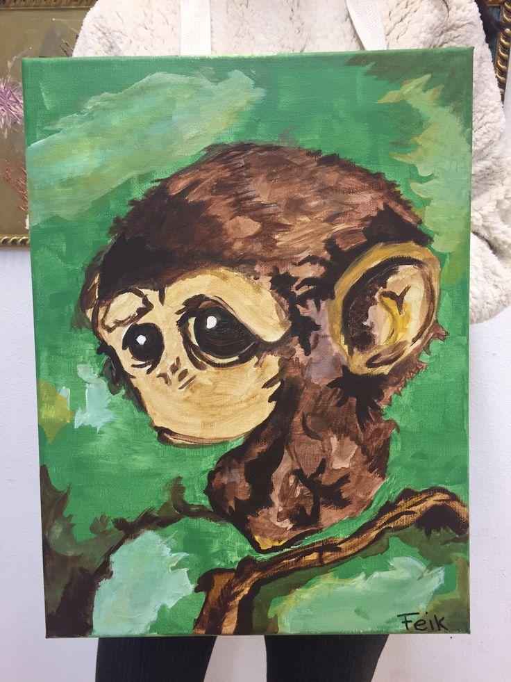 Eén van mijn cursisten heeft dit geschilderd bij Irene's Atelier.