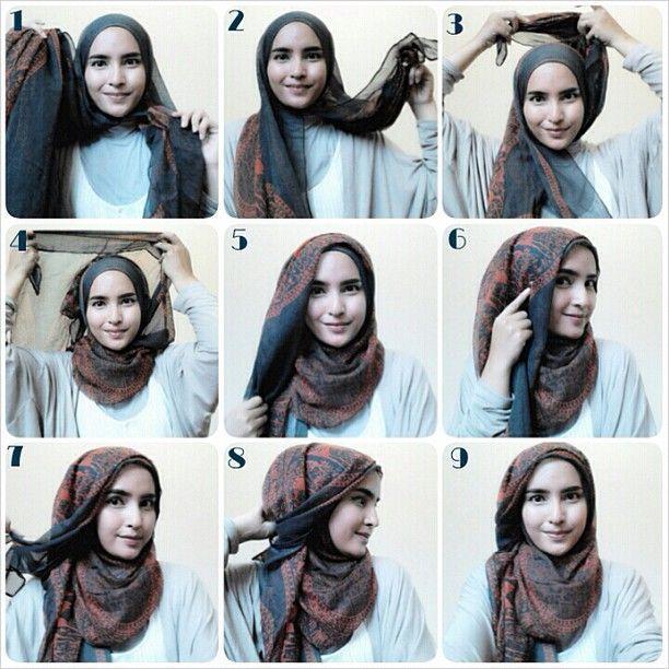 8 Hijab Tutorials Without Using Many Needles Seasonoutfit Kursus Hijab Jilbab Sederhana Tutorial Hijab Mudah