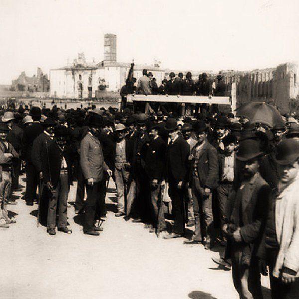 #Roma, 01 Maggio 1891, la prima #Manifestazione del #Lavoratori