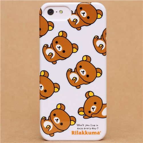 sports shoes 338a5 679df white Rilakkuma bear iPhone 5 / 5S hard cover case from Japan ...